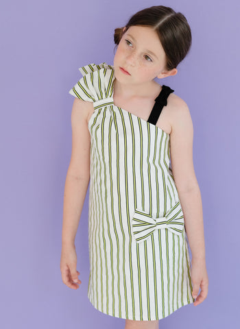 Moque Luna Dress in Green - FINAL SALE