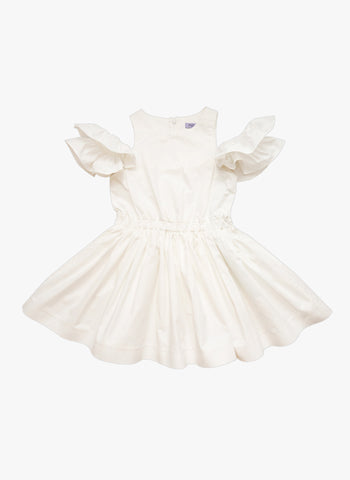 Moque Riley Dress in White - FINAL SALE