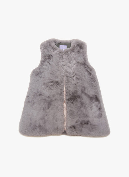 Moque Ruby Vest in Grey - FINAL SALE