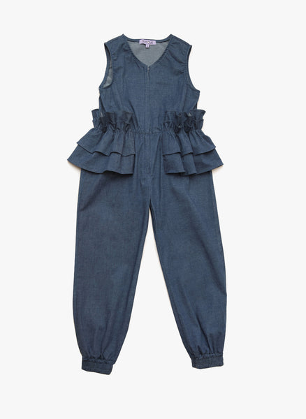 Moque Tallia Jumpsuit in Denim - FINAL SALE