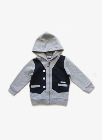 Moschino Boys Vest Hoodie - MUF00E - FINAL SALE