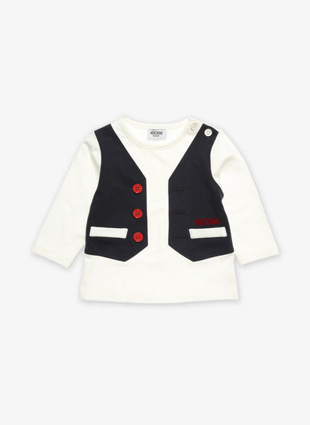 Moschino Boys Vest Tee - MUM00C -  FINAL SALE