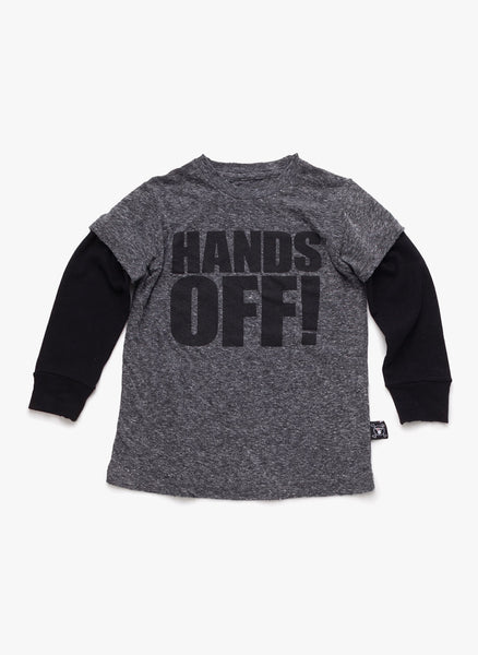 Nununu Hands Off! T-Shirt in Charcoal - FINAL SALE