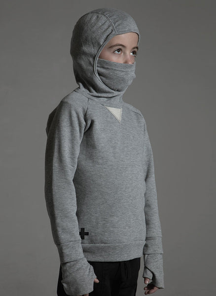 Nununu Ninja Sweatshirt in Heather Grey - FINAL SALE