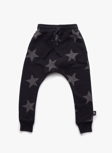 Nununu Star Baggy Pants in Black - FINAL SALE