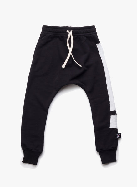 Nununu Exclamation Baggy Pants in Black - FINAL SALE