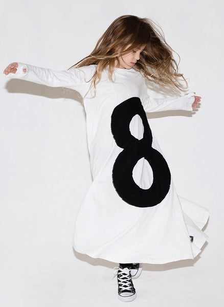 Nununu Maxi Puffy Number 360 Dress in White - FINAL SALE