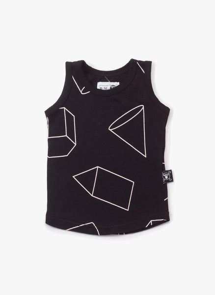 Nununu Geometric Tank Top in Black