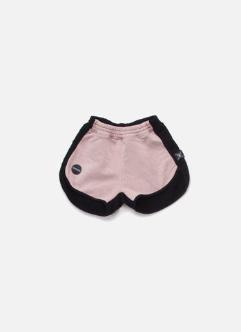 Nununu  1/2 & 1/2 Gym Shorts in Black/Powder Pink