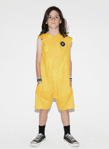 Nununu Aviator Overall in Dusty Yellow - FINAL SALE