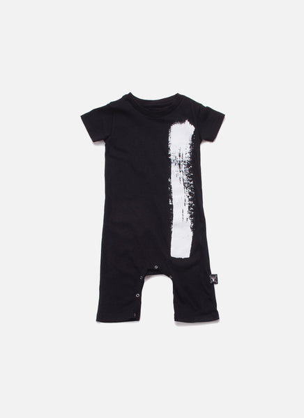 Nununu Brush Stroke Playsuit in Black - FINAL SALE