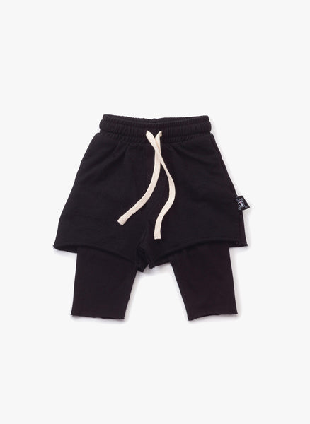 Nununu One on One shorts in Black - FINAL SALE