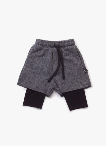 Nununu One on One shorts in Charcoal - FINAL SALE
