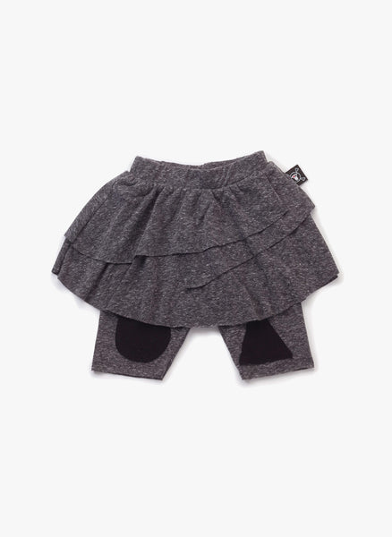 Nununu Patch Leggings Skirt in Charcoal - FINAL SALE