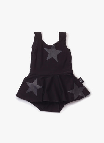 Nununu Skirt Swimsuit in Black Star