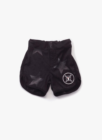 Nununu Star Surf Shorts Swim Trunks in Black