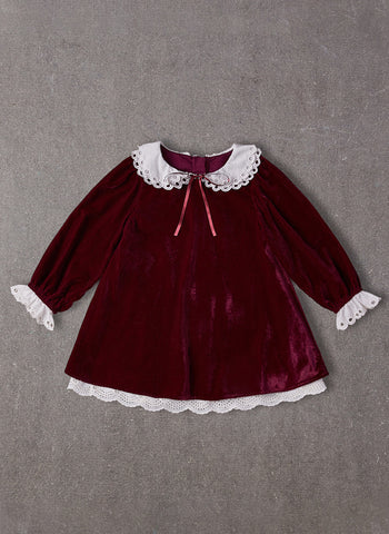 Nellystella Amelia Dress in Red Velvet
