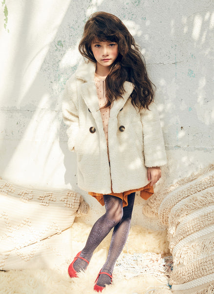 Nellystella Celeste Coat in White Fleece