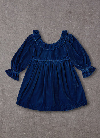 Nellystella Esra Dress in Blue Velvet
