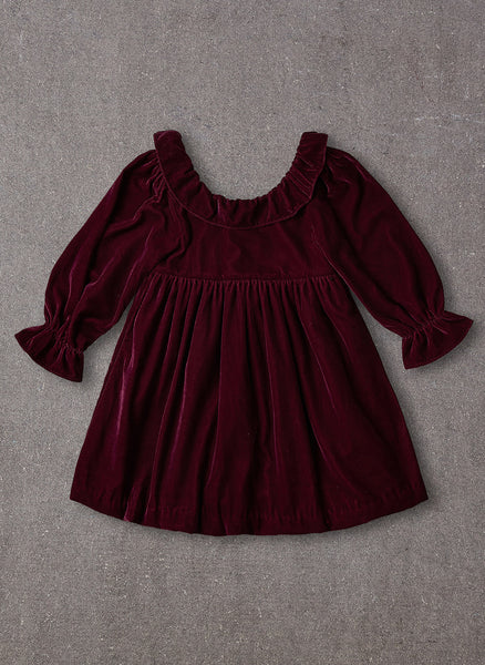 Nellystella Esra Dress in Red Velvet - FINAL SALE