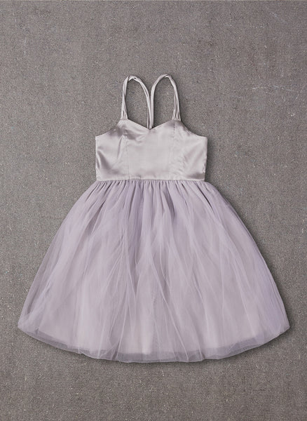 Nellystella LOVE Peach Dress in Dove Grey