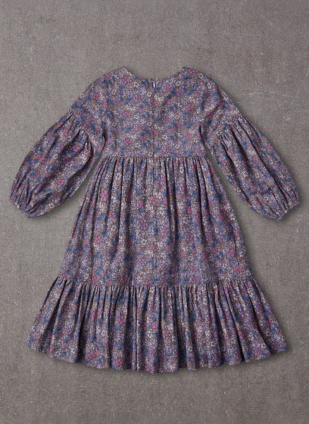 Nellystella Nicola Dress in Vintage Floral Purple Haze - PRE-ORDER