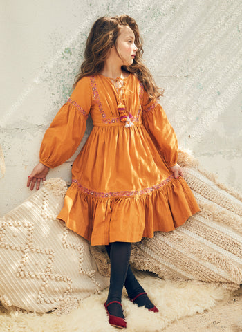 Nellystella Nicola Dress in Saffron - PRE-ORDER
