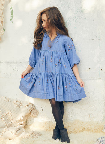 Nellystella Sasha Dress in Cornflower Blue