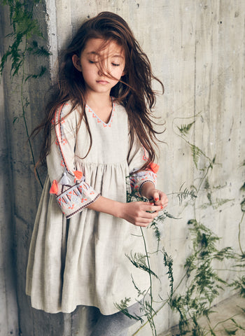 Nellystella Berta Dress in Oatmeal