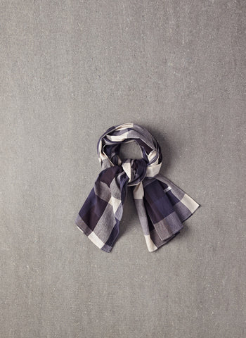Nellystella Blake Scarf in Large Blue Plaid - FINAL SALE