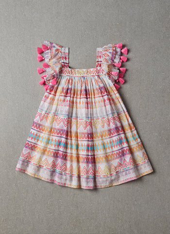 Nellystella Chloe Dress in Rainbow Dream Catcher