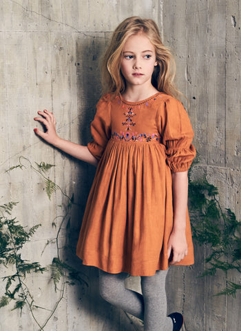 Nellystella Clover Dress in Cider