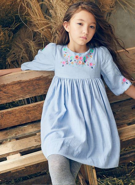 Nellystella Clover Dress in Dusty Periwinkle - FINAL SALE