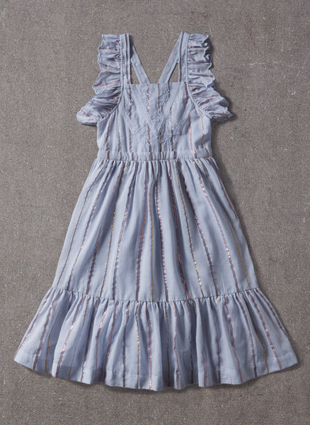 Nellystella Elina Dress in Blue Lurex Stripe