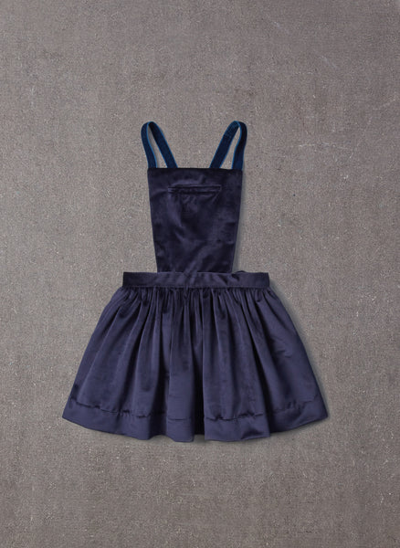 Nellystella Ella Dress in Navy Velvet
