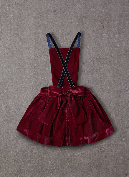 Nellystella Ella Dress in Red Velvet - FINAL SALE