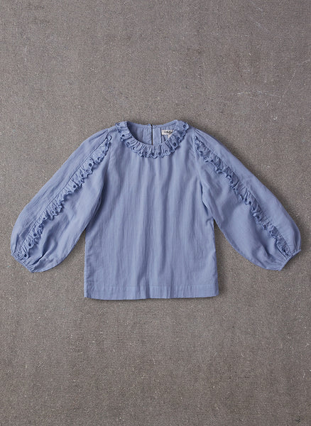 Nellystella Gaia Blouse in Dusty Periwinkle - FINAL SALE