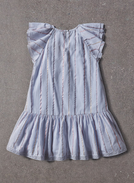 Nellystella Gracey Dress in Blue Lurex Stripe