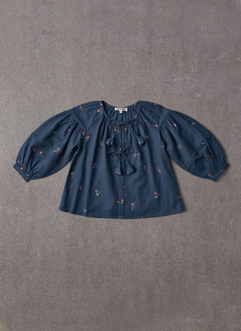 Nellystella Hellena Blouse in Autumn Melody Embroidery