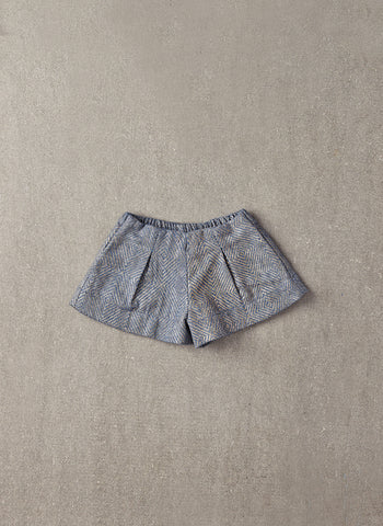 Nellystella Jess Shorts in Light Grey Foil - N15F202 - FINAL SALE
