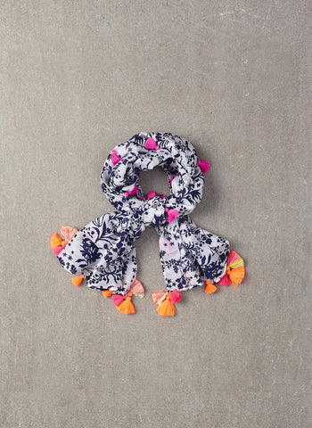 Nellystella Katie Scarf in Floral Motif - FINAL SALE
