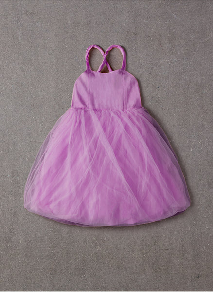 Nellystella LOVE Peach Dress in Lavender Magenta