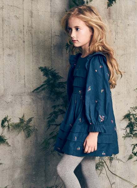 Nellystella Liesl Dress in Autumn Melody Embroidery