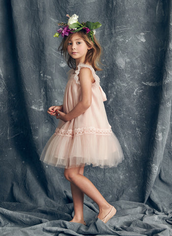 Nellystella Love Fiona Dress in Peach Melba