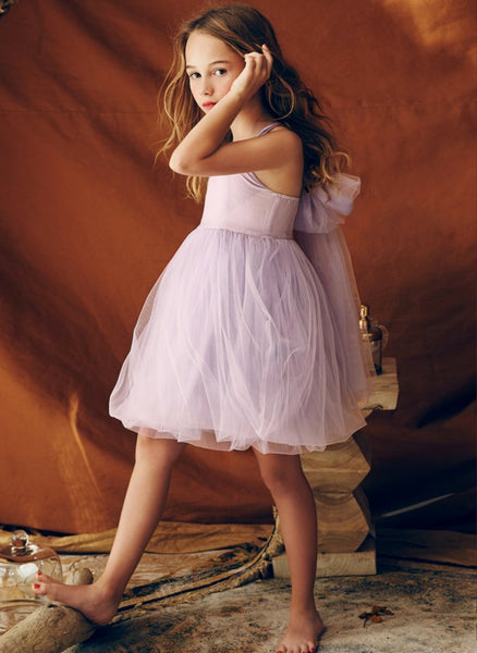 Nellystella Love Peach Dress in Lavender Fog