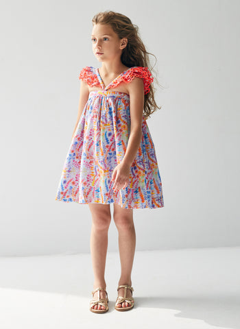 Nellystella Molly Dress in Oceanscape Blue Yonder