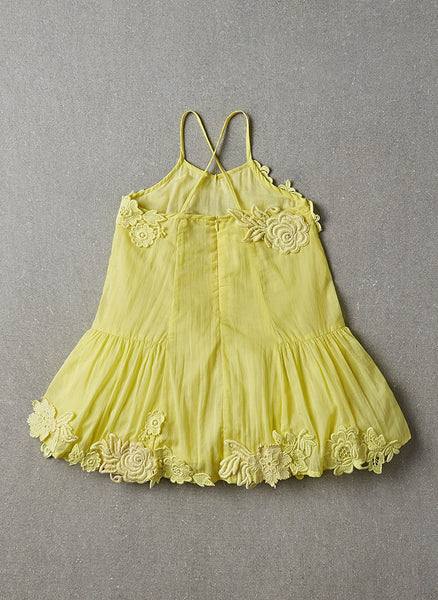 Nellystella Monica Dress in Chartreuse