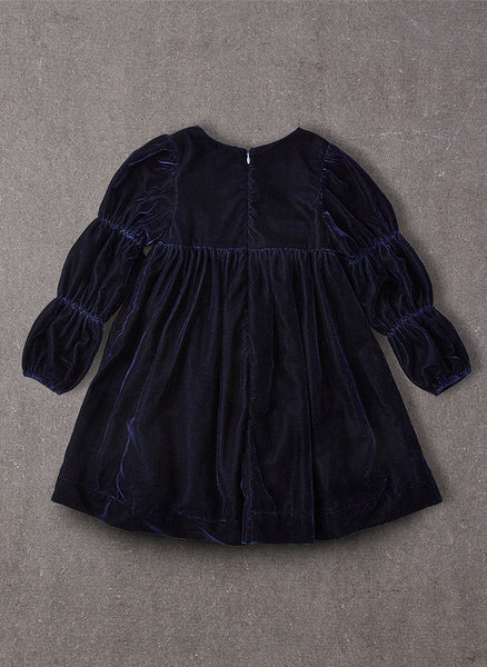 Nellystella Ottilie Dress in Navy Velvet -FINAL SALE