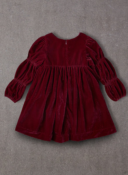 Nellystella Ottilie Dress in Red Velvet - FINAL SALE