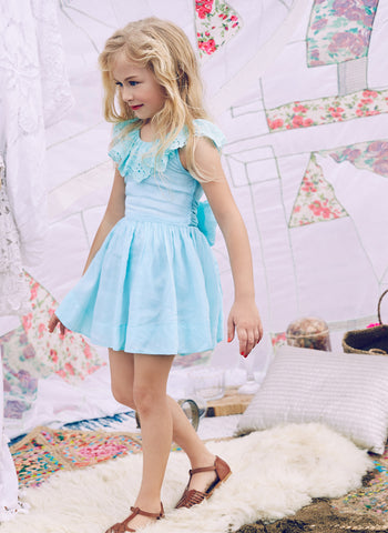 Nellystella Piper Dress in Frosty Blue